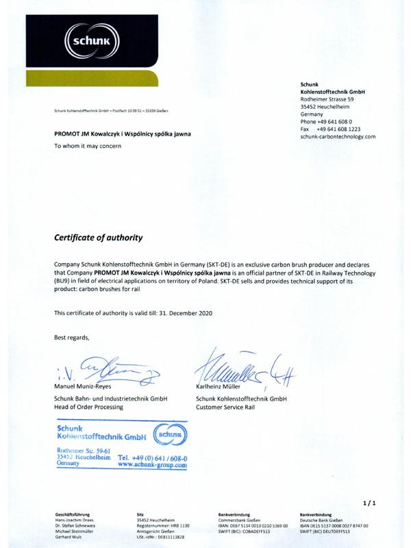 certyfikatShunk2018